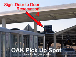 Oakland Airport Shuttle Van Pick up Location